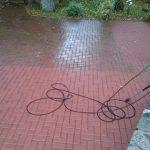 takelių latakų terasų plovimas stipria vandens srove