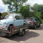 antikvarinės mašinos transportavimas