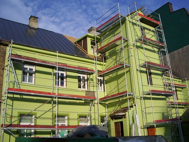 Gyvenamojo namo fasado šiltinimas