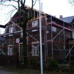 scaffolding scaffolding aliuminiai pastoliai, gyvenamasis namas, esbaltic