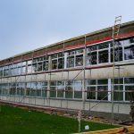 fasadų šiltinimas fasado šiltinimas renovacija darželio scaffolding aliuminiai pastoliai www.esbaltic.lt+37064090009
