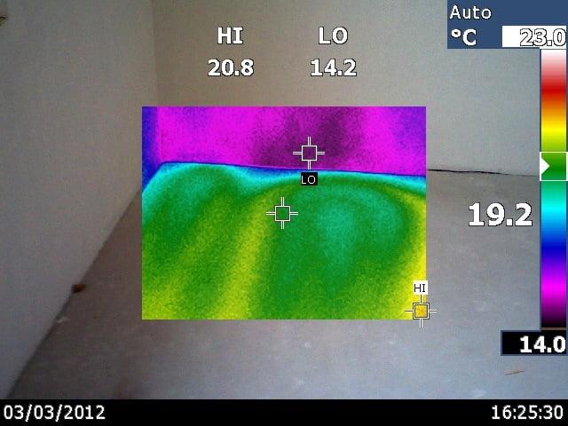 Termovizinis tyrimas: grindinio termonuotrauka