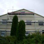 fasadų plovimas stipria vandens srove scaffolding aliuminiai pastoliai