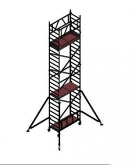 Aliuminio bokštelis ALUBERG HOME HB 7,5