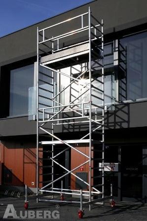 mobilus aliuminis bokštelis aluberg bokšteliai pastoliai