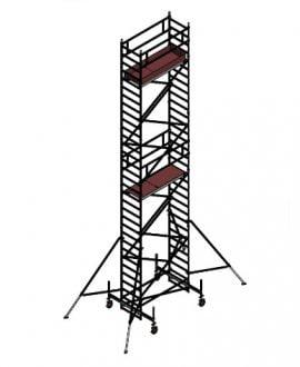 Aliuminio bokštelis Aluberg 770-1000