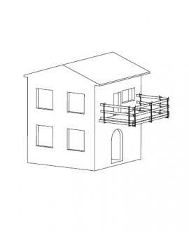 Laikini statybiniai turėklai laikikliai balkonams